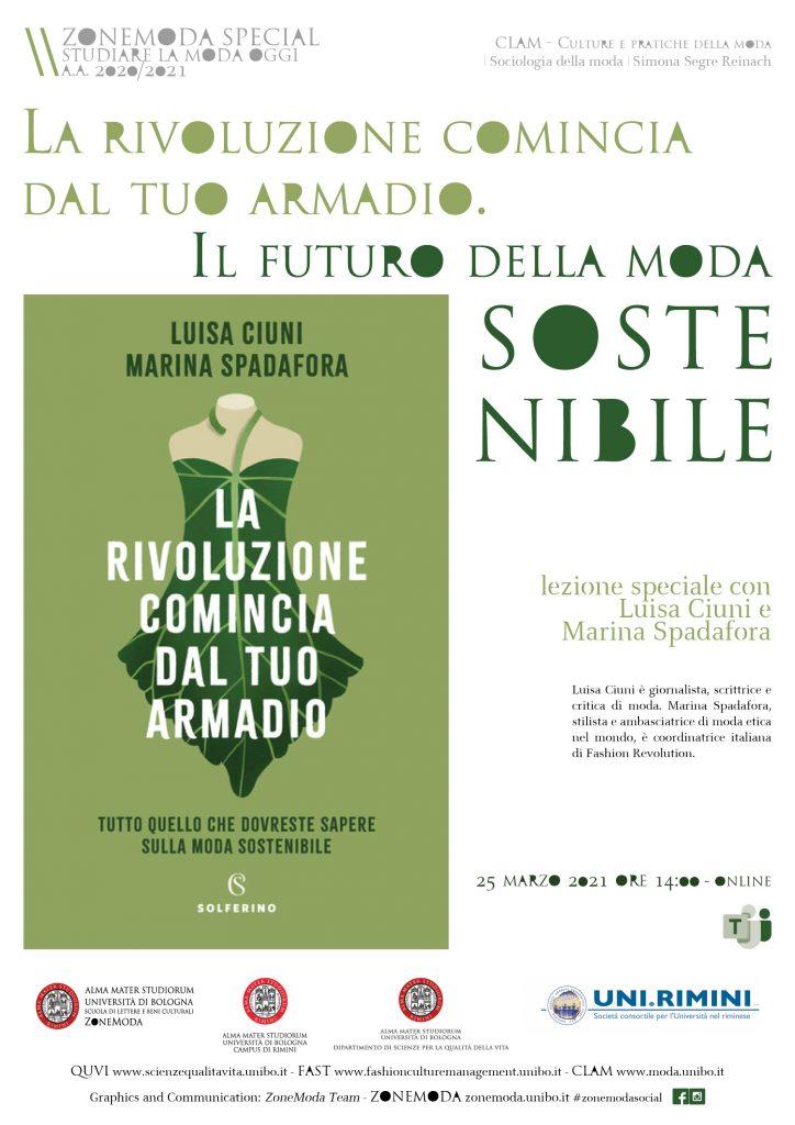 Il futuro della moda sostenibile     lezione speciale con  Luisa Ciuni